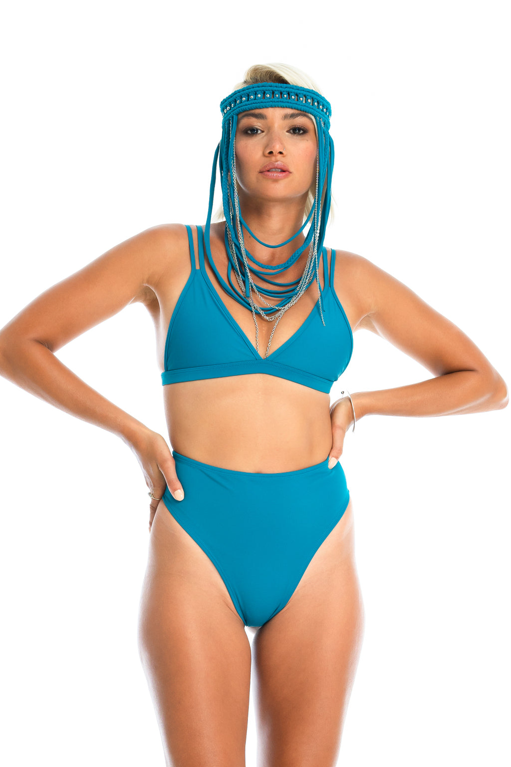 OCEAN TRIANGLE TOP | Teal