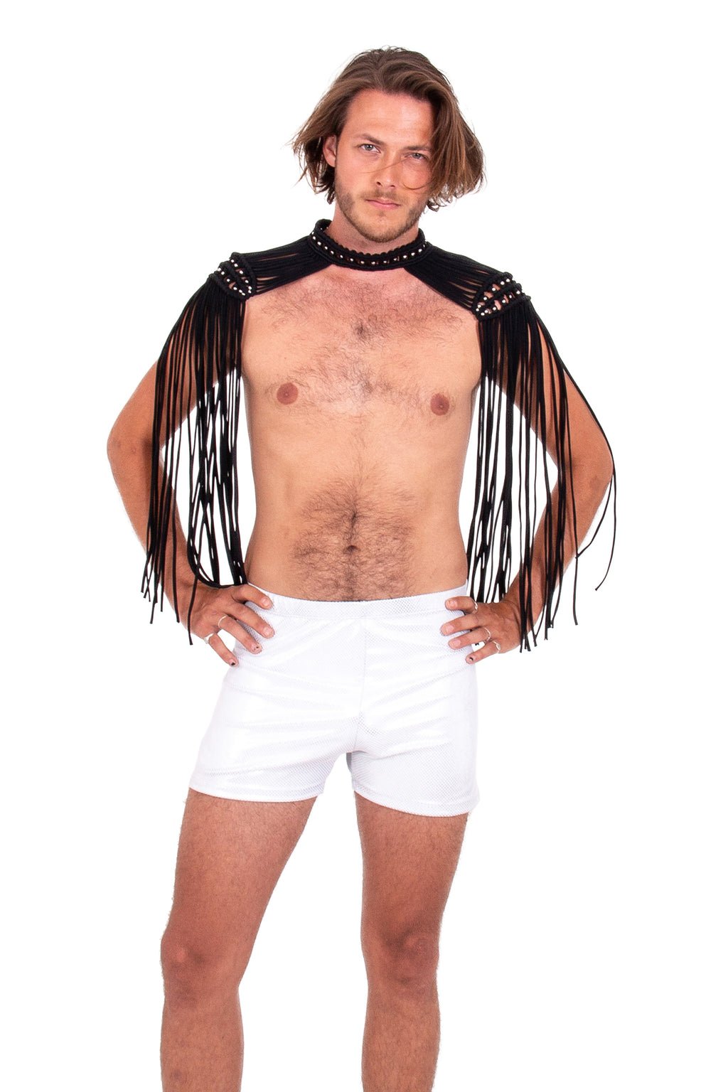 Sexy Burning Man epaulettes, mens festival costume accessory