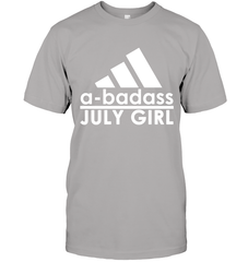 A Badass July Girl Next Level Unisex Fitted Tee / Heather Grey / S Shirts