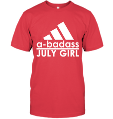 A Badass July Girl Next Level Unisex Fitted Tee / Red / S Shirts