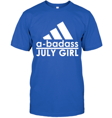 A Badass July Girl Next Level Unisex Fitted Tee / Royal / S Shirts