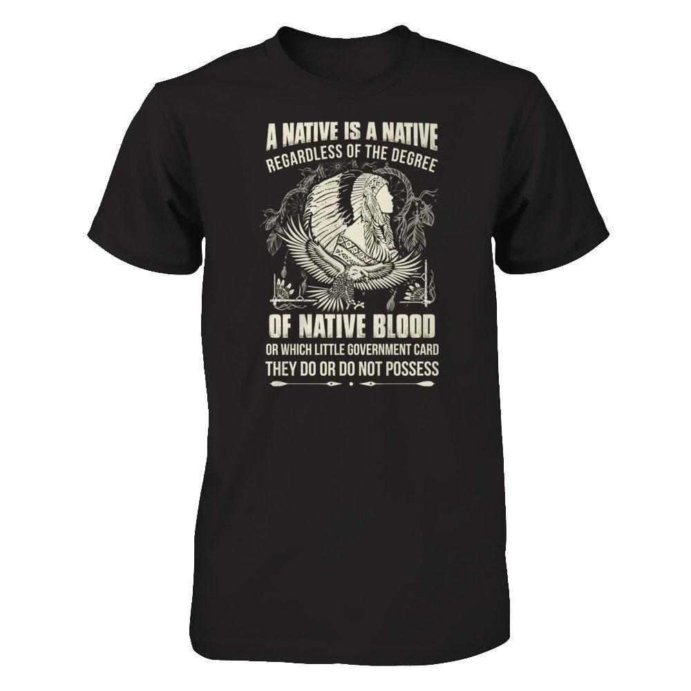 A Native Is A Native Next Level - Unisex Fitted Tee / Black / XS Shirts