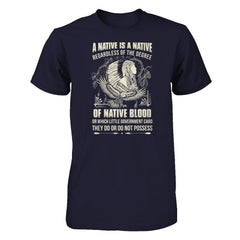 A Native Is A Native Next Level - Unisex Fitted Tee / Midnight Navy / XS Shirts