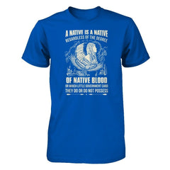 A Native Is A Native Next Level - Unisex Fitted Tee / Royal / XS Shirts