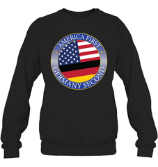 America First, Germany Second Heavy Blend Crewneck Sweatshirt / Black / S Shirts