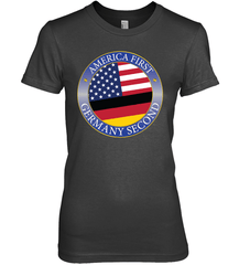 America First, Germany Second Next Level The Boyfriend Tee / Black / S Shirts