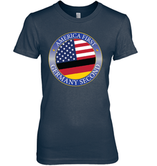 America First, Germany Second Next Level The Boyfriend Tee / Midnight Navy / S Shirts