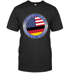 America First, Germany Second Next Level Unisex Fitted Tee / Black / S Shirts