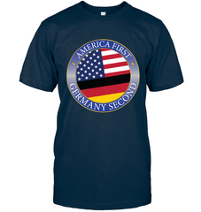 America First, Germany Second Next Level Unisex Fitted Tee / Midnight Navy / S Shirts