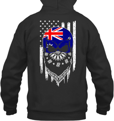 American Grown with Australia Roots Gildan Heavy Blend Hoodie 8oz / Black / S Shirts