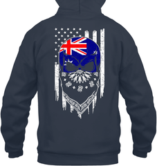 American Grown with Australia Roots Gildan Heavy Blend Hoodie 8oz / Navy / S Shirts
