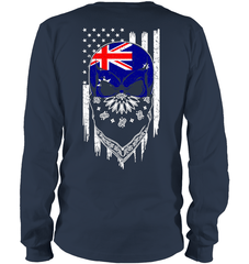 American Grown with Australia Roots Gildan Long Sleeve T-Shirt / Navy / S Shirts