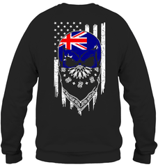 American Grown with Australia Roots Heavy Blend Crewneck Sweatshirt / Black / S Shirts