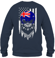 American Grown with Australia Roots Heavy Blend Crewneck Sweatshirt / Navy / S Shirts