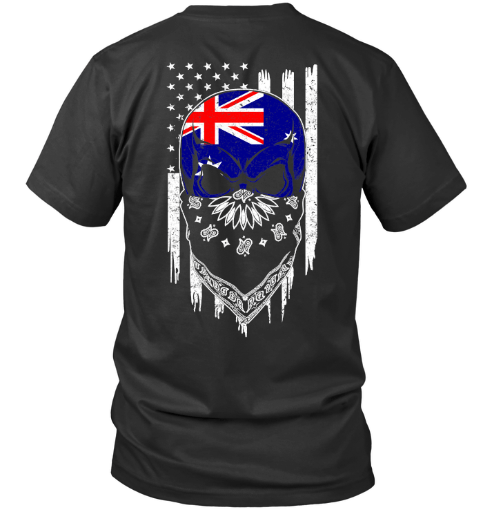 American Grown with Australia Roots Next Level Unisex Fitted Tee / Black / S Shirts