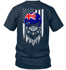 American Grown with Australia Roots Next Level Unisex Fitted Tee / Midnight Navy / S Shirts