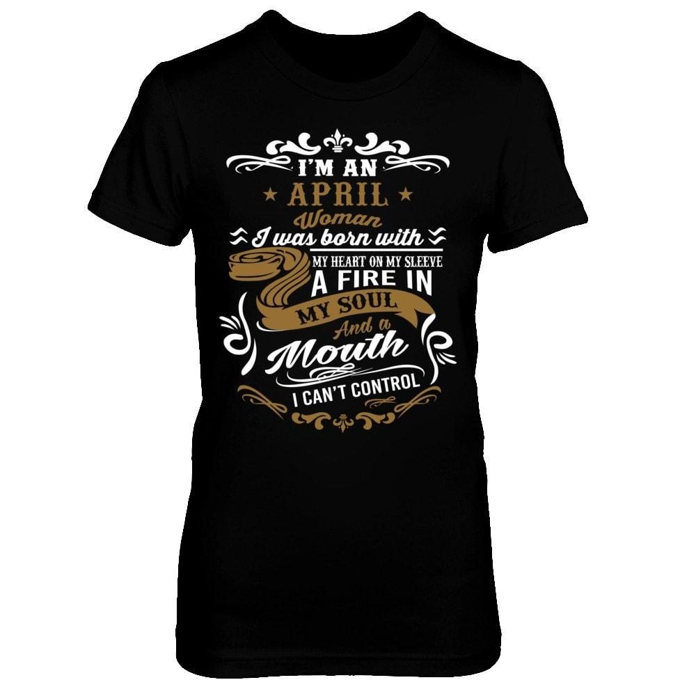 Shirts - April Woman - Fire in Soul - Delightee.com