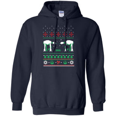 AT_AT Christmas G185 Gildan Pullover Hoodie 8 oz. / Navy / Small Shirts