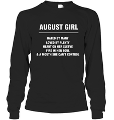 August Girl T-shirt Gildan Long Sleeve T-Shirt / Black / S Shirts