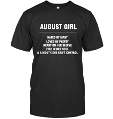 August Girl T-shirt Gildan Ultra Cotton T-Shirt / Black / S Shirts