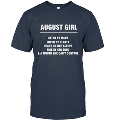 August Girl T-shirt Gildan Ultra Cotton T-Shirt / Navy / S Shirts