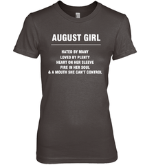 August Girl T-shirt Gildan Ultra Cotton Women's T-Shirt / Dark Chocolate / S Shirts