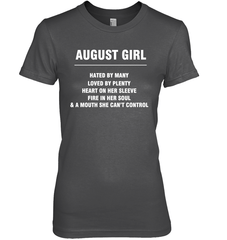August Girl T-shirt Gildan Ultra Cotton Women's T-Shirt / Dark Heather / S Shirts