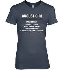 August Girl T-shirt Gildan Ultra Cotton Women's T-Shirt / Navy / S Shirts