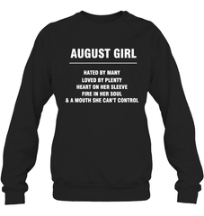 August Girl T-shirt Heavy Blend Crewneck Sweatshirt / Black / S Shirts