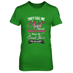 Aunt - Partner In Crime Next Level The Boyfriend Tee / Forest Green / S Shirts