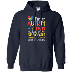Autism Mom Pullover Hoodie 8 oz / Navy / Small Shirts