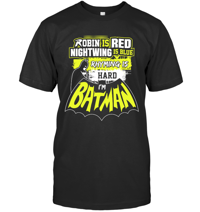 Batman Poem Next Level Unisex Fitted Tee / Black / S Shirts