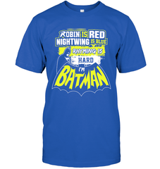 Batman Poem Next Level Unisex Fitted Tee / Royal / S Shirts