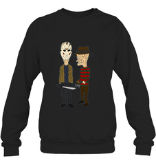 Beavis Butthead Heavy Blend Crewneck Sweatshirt / Black / S Apparel