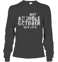 Best Asshole Oct Guy Gildan Long Sleeve T-Shirt / Dark Heather / S Shirts