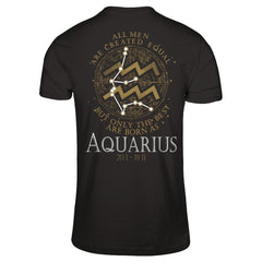 Best Men Are Born As Aquarius Next Level - Unisex Fitted Tee / Black / XS Shirts