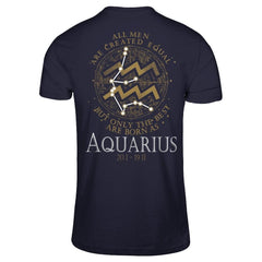 Best Men Are Born As Aquarius Next Level - Unisex Fitted Tee / Midnight Navy / XS Shirts