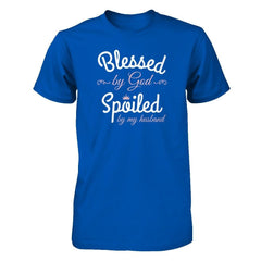 Blessed by God Spoiled by my Husband Next Level - Unisex Fitted Tee / Royal / XS Shirts