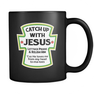 Mugs - Catch up with Jesus Ceramic Coffee Mug - Delightee.com