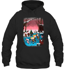 Charlie Brown Christmas Gildan Heavy Blend Hoodie 8oz / Black / S Shirts