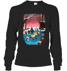 Charlie Brown Christmas Gildan Long Sleeve T-Shirt / Black / S Shirts