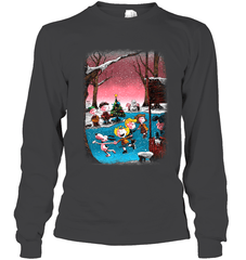 Charlie Brown Christmas Gildan Long Sleeve T-Shirt / Dark Heather / S Shirts