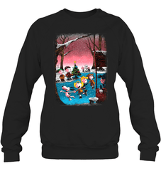 Charlie Brown Christmas Heavy Blend Crewneck Sweatshirt / Black / XS Shirts