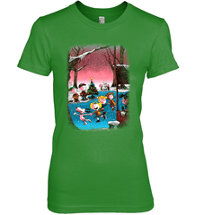 Charlie Brown Christmas Next Level The Boyfriend Tee / Forest Green / XS Shirts