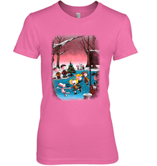 Charlie Brown Christmas Next Level The Boyfriend Tee / Hot Pink / XS Shirts