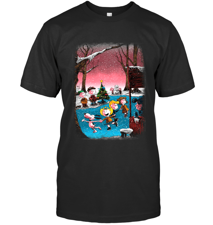 Charlie Brown Christmas Next Level Unisex Fitted Tee / Black / S Shirts