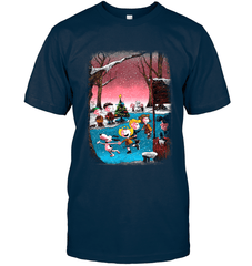 Charlie Brown Christmas Next Level Unisex Fitted Tee / Midnight Navy / S Shirts