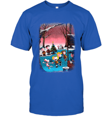 Charlie Brown Christmas Next Level Unisex Fitted Tee / Royal / S Shirts