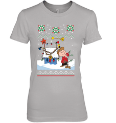 Charlie Brown X-mas Next Level The Boyfriend Tee / Heather Grey / S Shirts