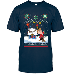 Charlie Brown X-mas Next Level Unisex Fitted Tee / Midnight Navy / S Shirts